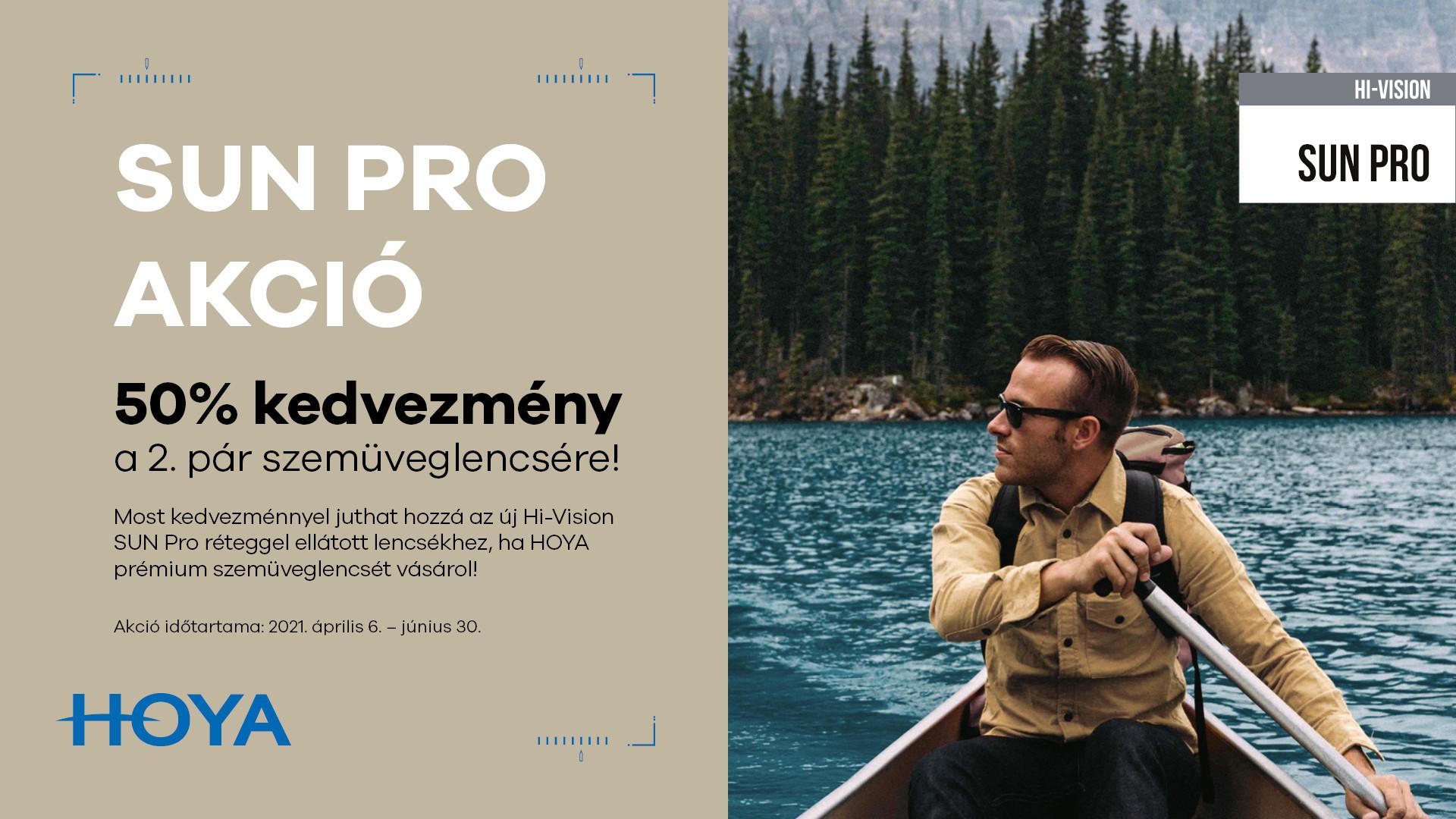 Hi-Vision SUN Pro 50% kedvezmény a 2. pár szemüveglencsére!